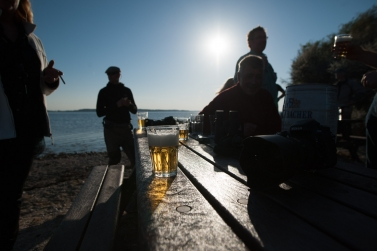 A beer on the beach - A good barbecue and some beer is so much better by the water with good fishing friends