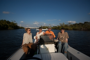 The family - My sons, my wife and myself under the Florida sun in Martin\'s boat