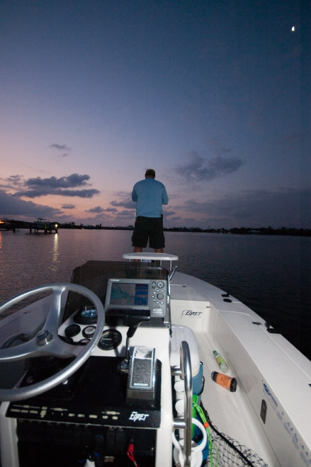Sunrise - Martin is fishing in the first light of the Florida morning