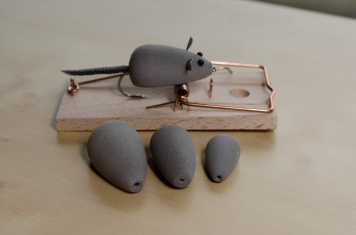 "Rainy\'s Mouse Bodies - The prefabricated bodies are available in three sizes and make ""tying\"" a mouse fly very easy"