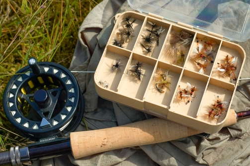 Dry fly selection - A decent selection of dry flies require a good selection of materials