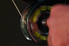 Spooling line - The fly-line isn't spooled when the lure is retrieved, but when the fish is hooked and you need to get control over the loose line