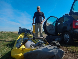 Getting help - Unpacking and inflating the kayak is easy and quickly done