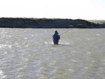 Fighting the wind - One thing you have to expect on the Rio Grande - wind!