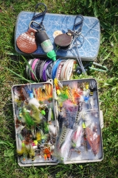 Flies, tippet and gear -