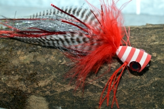 Red poppers - Red, gizzly and flash makes for a great pike patterns