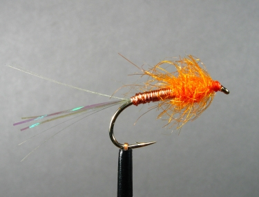The orange variation - This is Henning Eskol\'s own orange variation, which typically doesn\'t have a front hackle, but still has the copper body