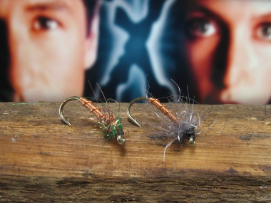 X-flies - Klympen variations - both with the characteristic copper body/rib