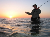 Sunset casting  - There's always time for one more cast, and the golden hour during sunset can be a productive time not to be missed