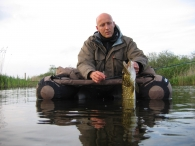 Lake fishihng - Fishing from a float tube can be a very efficient way to find pike in lakes
