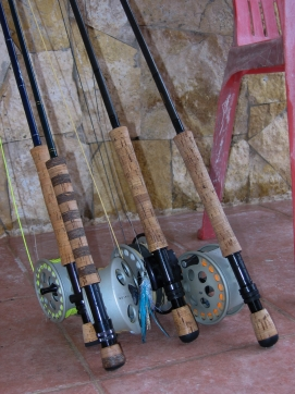 Rod ready - The Burkheimer with the striped handle was not going to be the same after the day\'s fishing