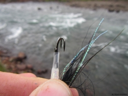 Even strong hooks break - This hook was fresh and unmarred, but simply broke on a strong Icelandic salmon in hard current