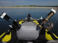 Trolling - Using a sinking line you can troll a fly behind the kayak