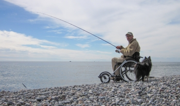 Wheelchair and spin - Being in a wheelchair forces me to reach for the spinning rod more often than I used to