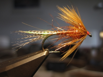 A recent incarnation - This copper themed version of the Klympen fly was tied by the originator Henning Eskol spring 2015