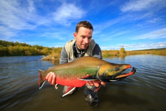Lukas with a nice Dolly Varden -