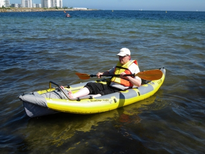 Testing - Here I am during my first test of the Straitedge Angler kayak