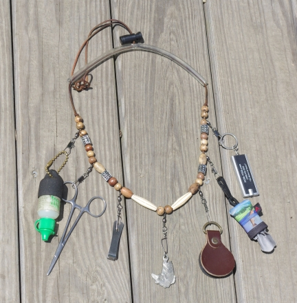 The lanyard - The lanyard is a simple and practical way of holding all your small fly-fishing gadgets and gizmos