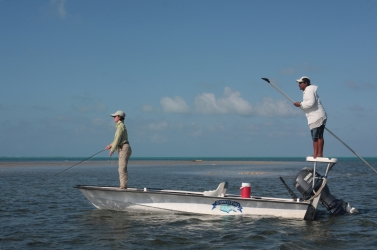 Fishing for bonefish in Belize -