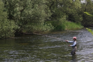 River fishing in Ireland -