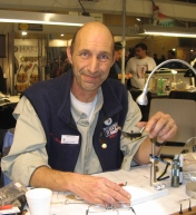 The author tying - Martin Westbeek often demonstrates tying at fly-shows