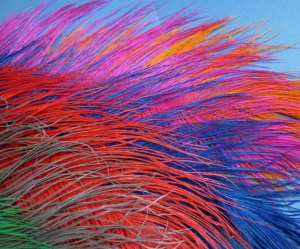 Ostrich feathers - These are the skinny type, meant for Spey and Intruder flies, but also useful for other types of large flies