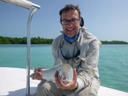 A good size bonefish -