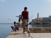 Anglers on the Malecon -