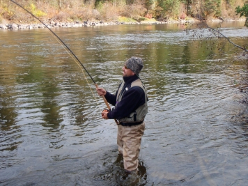 The take - The first take of a wild steelhead is an exciting moment