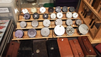 Reels on display -