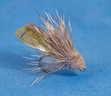 Streaking caddis style muddler - The wings are Silver Tip Fly Company\'s