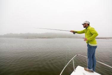 Casting to a group of stripers -