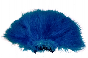 Strung marabou - The feathers are quite uniform, sorted for length and sewn together at the base, and will often provide a lot of very useful material for tails and wings