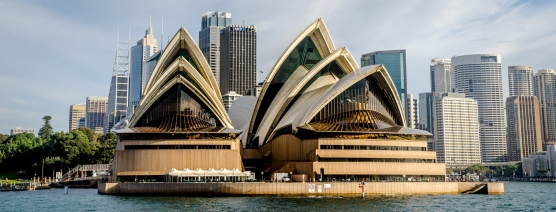 Sydney Opera House - The shells clearly visible on this landmark building
