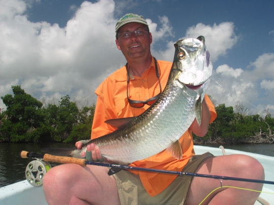 Not big - This is nothing that can impress an experienced tarpon angler (which I\'m not), but still a lot of fun.