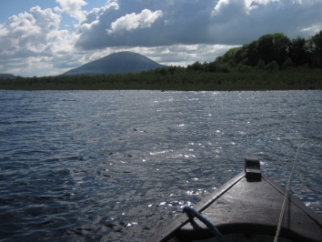 The lake and Nephin - The lake is beautiful and the mountain Nephin is in sight from most of it