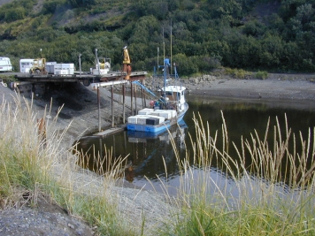 The tide - The difference in high/low tides in the Kenai Peninsula, 16 feet (about 5 meters) is average.