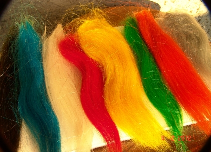 Yak hair - Yak is a naturally long and smooth hair available in many colors and well suited for large flies