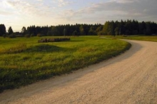 A gravel road always leads to a river -