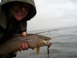 Autumn smile - German Kai Nolting with a borad smile and a nice fish