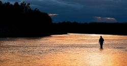 Low sun over the river -