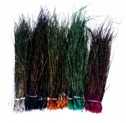 Peacock herl - Herl is a very useful material for large flies if you can get it long and dense. It\'s available in a large number of mainly dark colors