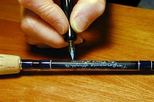 A quill pen - The pen used is an old fashioned quill pen