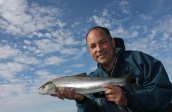 The author - With a very decent sea trout