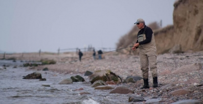 Sea trout zone - Baltic sea trout sometimes go very close to the shore, especially when there\'s a little movement in the water to obscure and hide them