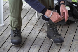 Tight laces - Make sure your books are tightly laced, because loos boots makes wading and hiking unsecure