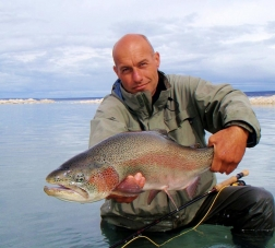 Rainbow - One of the hefty and renown Lake Strobel rainbows