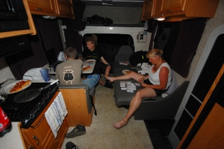 Big outside - big inside - The size of the RV pays off when you get inside. It's large and convenient with plenty space.