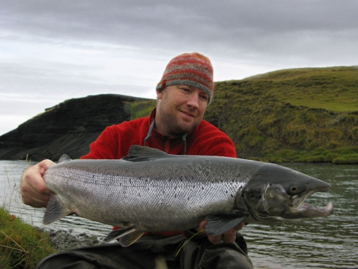 Another large salmon - Nils Jorgensen with yet another Icelandic salmon