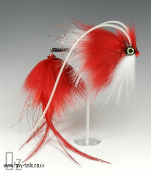Santa Claus - Tied as a Christmas tribute, but still an excellent large fly for pike and other predators, using the articulated shank method